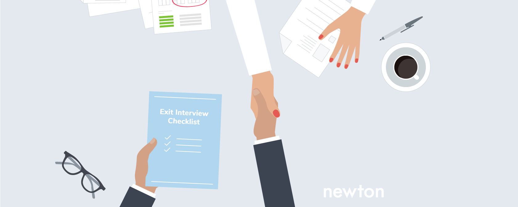 HR conducting an exit interview with a departing employee